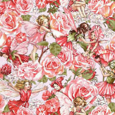 Michael Miller Flower Fairies Pink Bty Dc4220-Rose-D fabric
