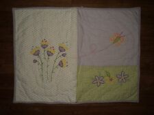 POTTERY BARN KIDS Floral Butterfly Quilted Sham purple green yellow EUC