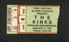 1982 The Kinks concert ticket stub Syracuse NY Give The People What They Want