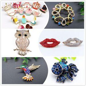 Betsey Johnson Women's  Lip Brooch Crystal Rhinestones Stick Jewelry Paved Pins