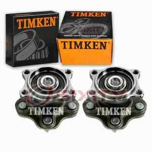2 pc Timken Rear Wheel Bearing Hub Assembly for 2002-2006 Nissan Altima sy