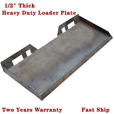 "1/2"" Skid Steer Mount Plate Quick Attachment For Bobcat & Kubota Thicken Steel"