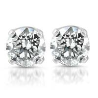 6mm Clear CZ 925 Sterling Silver Stud Round Solitaire Earrings Christmas Gift UK