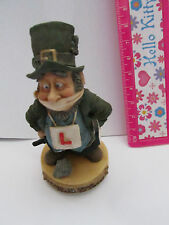 SPEEDY THE LEARNER DRIVER SWEAR BLARNEY STONE FINNIAN LEPRECHAUN FIGURE MINI VGC