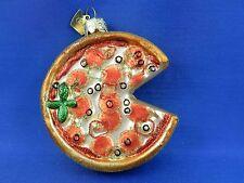 Pizza Pie Christmas Ornament Blown Glass Tree Snack Food 003191