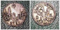 Frankfurt 1 Kreuzer 1773 Silver Coin City View Germany wow Rare Grade For Those