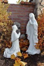 Mary Lady of Lourdes and St. Bernadette 24 inch Garden Statue Indestructible PVC
