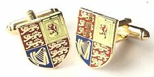 Military Royal Cypher Enamel Crested Cufflinks (N105) Gift Boxed