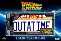 Ritorno al Futuro Targa Back To Future Out-A-Time Delorean Licence Plate Replica