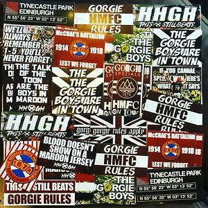 100 x Heart Of Midlothian Ultra Style Stickers inspired by HMFC Poster Programme