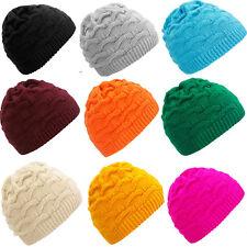 Women Ladies Winter Hat Warm Round Short Fashion Ski Snowboard Beanie Hats Waves