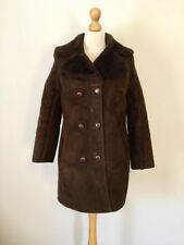 Vintage Ladies Brown Sheep Skin Shearling Very Rare Coat , Size S