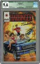 w/ with Coupon! Signed Jim Shooter Harbinger 1 CGC 9.6 Qualified 1st appearance