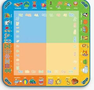 Aquadoodle Classic Colour Board Kids Learning Numbers Letters Water Mat Gift