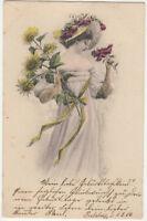 Blumengruesse H Watzel 1906 U/B Greetings Art Postcard Germany  US005