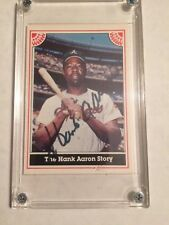 Signed Hank Aaron Limited Series No. 6 baseball card 1983 #1156 of 2000 nice