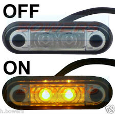12V/24V FLUSH FIT SLIM AMBER LED MARKER LAMP LIGHT TRUCK VAN KELSA BAR AS HELLA