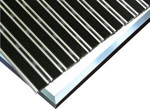 Fußmatte Gummi mit ALU Rahmen verschiedne Höhen Schmutzfangmatte Antirutschmatte