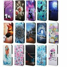 Pattern Leather Flip Wallet Case Cover For Samsung Galaxy A10e A20e A30 A50 A70