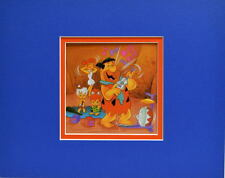 Flintstones - FRED IS NO FRIEND To The GUITAR Print Professionally Matted HB