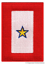 GOLD STAR SERVICE BANNER embroidered PATCH iron-on MILITARY FLAG EMBLEM KIA