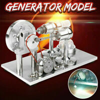Hot Air Stirling Engine Model Power Generator Motor Steam Educational Gift Toy