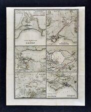 1860 Ansart Map Ancient Greece Athens Salamis Thermopylae Marathon Persian War