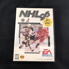 NHL Hockey 96 With Case Sega Genesis EA Sports Electronic Arts Vintage 1995