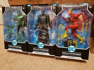 DC Multiverse Metal The Flash Batman Earth 44 & 32 Lot of 3 McFarlane In Hand
