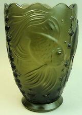 Barolac Bohême Art Déco Poisson Design Vase en verre années 1930