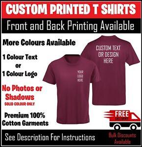 Custom Personalised Printed T Shirts Premium TShirt Men Stag Charity Work Logo