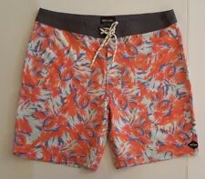 RIP CURL MEN'S BOARD SHORTS ORANGE AND BLUE FLORAL PRINT SIZE 34