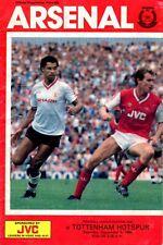 Arsenal v Tottenham Hotspur programme, Division 1, September 1986