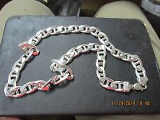 """Huge Heavy 24"""" Sterling Silver Chain from Jared's Wide & Heavy $1300+  170+ GRAM"""