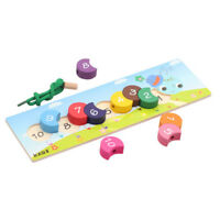 Educational Toy Cute Baby Kids Infant Wooden Creative DIY Caterpillars Toy BM