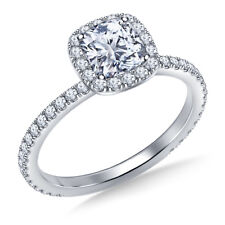 1.04 Ct Diamond Engagement Beautiful Ring 9k White Gold Stylish Rings Size K L