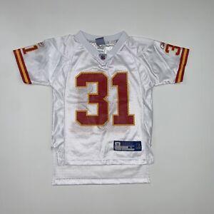 Kansas City Chiefs Priest Holmes #31 Jersey Size Youth Small White NFL KIDS