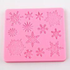 Copo de Nieve Navidad Silicona Cake Mold Fondant sugarpaste