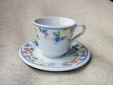 SWEET SMALL CUP AND SAUCER PRETTY FLORAL DESIGN PAVILION PORCELAIN COLLECTION