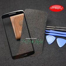 Black New Moto Motorola X Play XT1563 XT1562 Front Screen Glass Lens+Frame Tape