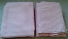 Pottery Barn Kids Girls Fitted Sheet Set Plaid Pink New Without Tags- 4 Sets