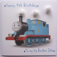 Personalised Hand made 6 inch sq Thomas Tank Engine any age Birthday card