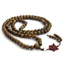 12mm--Green Sandalwood Tibet Buddhist 108 Prayer Beads Mala Necklace