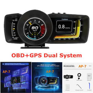 HUD Head-up Display Obdgps Dual System Driving Computer Modified LCD Code Table