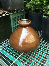 """8"""" Chocolate Brown Authentic Vietnamese Vase - From Chicago's """"New Chinatown"""""""