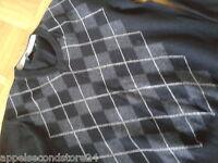 Zara Man Herren Pullover Pulli Italy Gr M Schwarz Lana Rauten Winter