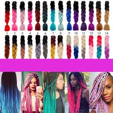 "24"" 60cm Ombre Dip Dye Kanekalon Jumbo Braid Hair Extensions Best Quality Fiber"