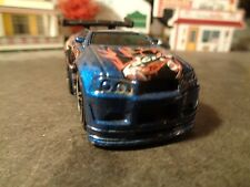 HOT WHEELS  2004 OUT-A-LINE, BLINGS, BLUE  1:64 SCALE DIE-CAST METAL   5-6-4