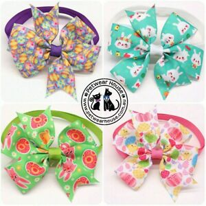 Easter bunny egg bowtie/bow tie collar for your pet dog or cat