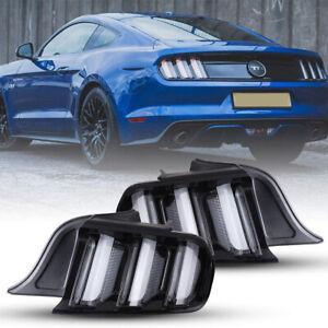 2Pcs Front Grills Bumper Driving Halogen Lamp Fog Lights For Ford Mustang 15-20